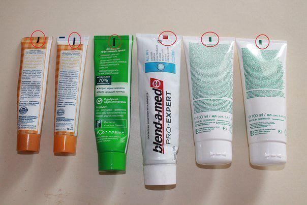 What is the meaning behind this toothpaste color code? [Image Credit: TRC Podcast]
